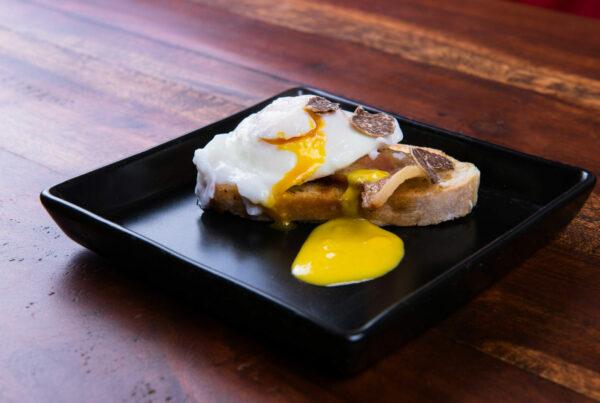 Eggs Benedict, Pancetta with Truffle Hollandaise