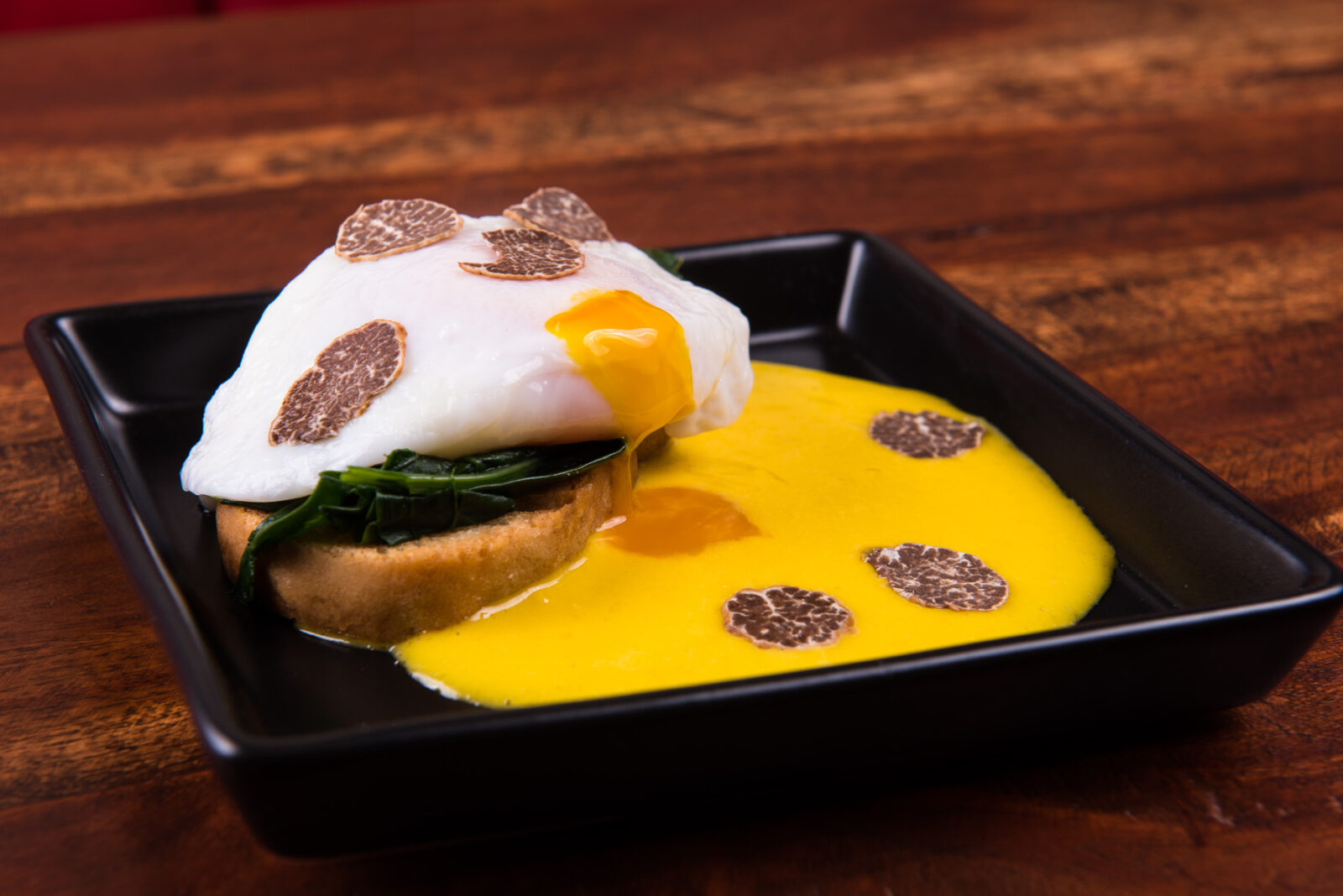 Eggs Benedict, Spinach with Truffle Hollandaise