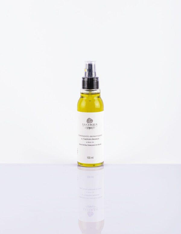 Condimento aromatizzato al Tartufo Bianco a base di olio extravergine di oliva Spray