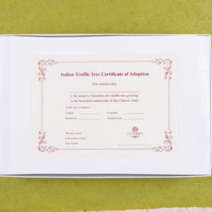Truffle adoption certificate