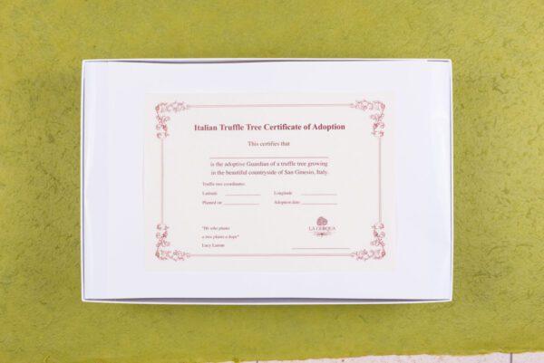 Truffle adoption certificate