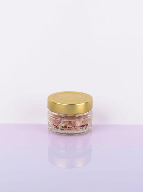 Himalayan pink salt with black summer truffles